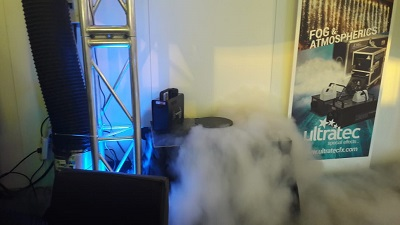 Ultratec fog machine first fog