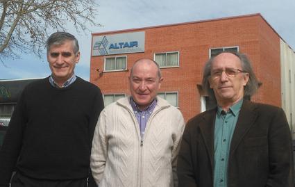 Aaltair Directive Board and founding members Antonio M. Ruiz, Cesar Gonzalez and Miguel Gimenez