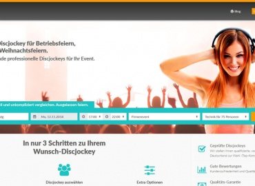 New Platform: book a DJ at Discjockey.de