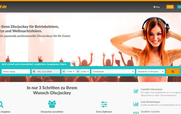 New Platform: book a DJ at Discjockey.de
