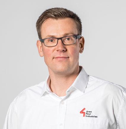 Norbert Tripp, Technical Director of Area Four Industries