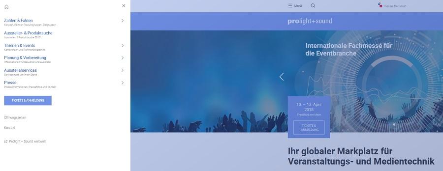 Webseite-Relaunch Prolight + Sound